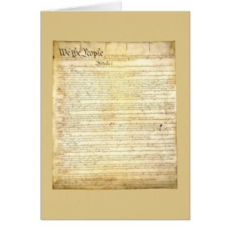 United States Constitution Greeting Card