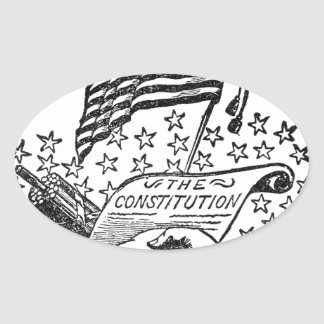 United States Constitution Oval Sticker