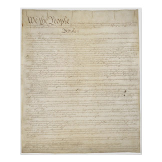 United States Constitution Poster