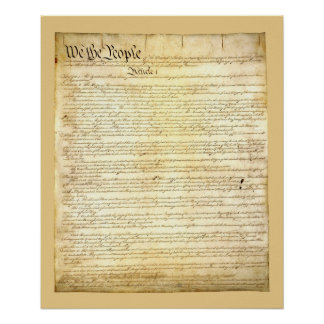 United States Constitution Poster/Print Poster