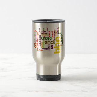 United States Constitution Preamble Word Cloud 15 Oz Stainless Steel Travel Mug