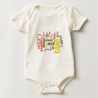 United States Constitution Preamble Word Cloud Baby Bodysuit
