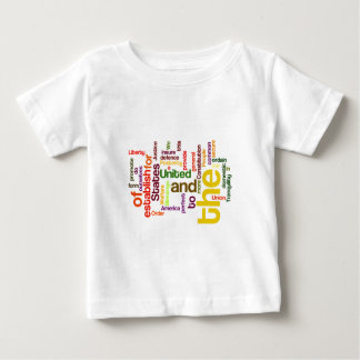 United States Constitution Preamble Word Cloud Baby T-Shirt