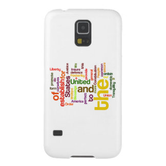 United States Constitution Preamble Word Cloud Galaxy S5 Cases