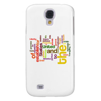 United States Constitution Preamble Word Cloud Samsung Galaxy S4 Case