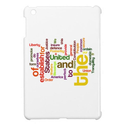 United States Constitution Preamble Word Cloud Cover For The iPad Mini