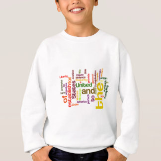 United States Constitution Preamble Word Cloud Sweatshirt