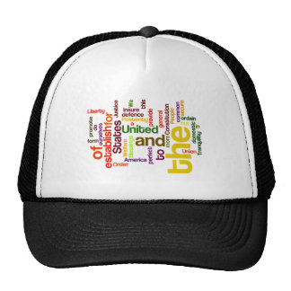 United States Constitution Preamble Word Cloud Trucker Hat