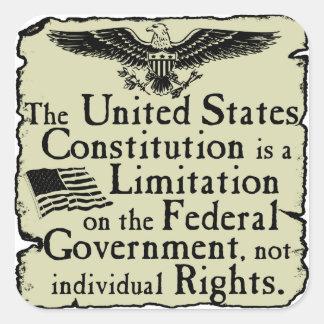 United States Constitution Square Sticker