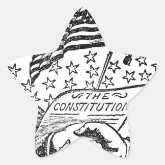 United States Constitution Star Sticker