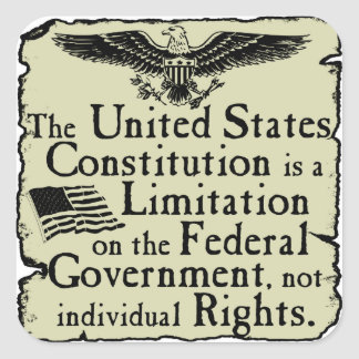 United States Constitution Square Stickers