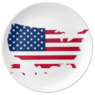 United States country Dinner Plate