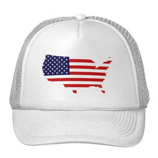 United States Country & Flag Hat