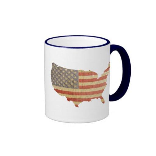 United States Country & Flag Mug