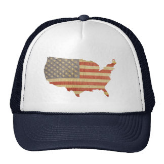 United States Country Worn Flag Patch Hat