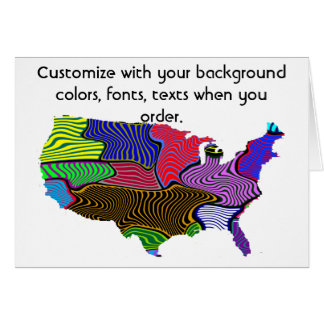 United States Customize colorful election or other Card