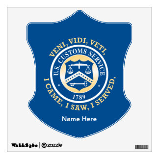 United States Customs Service Custom Wall Decal