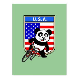 United States Cycling Panda Postcard