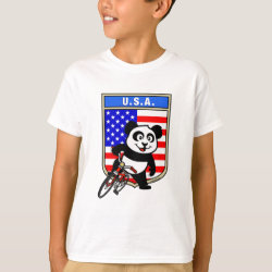 Kids' Hanes TAGLESS® T-Shirt with USA Cycling Panda design