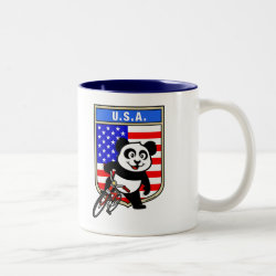 Two-Tone Mug with USA Cycling Panda design