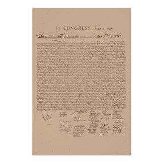 United States Declaration of Independence Posters