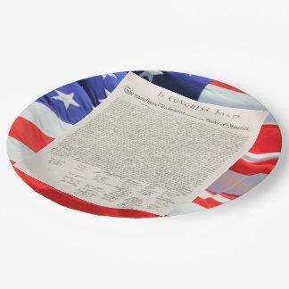United States Declaration of Independence Vintage Paper Plate