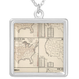 United States denominational statistics Silver Plated Necklace