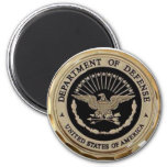 UNITED STATES DEPARTMENT OF DEFENSE 2 INCH ROUND MAGNET