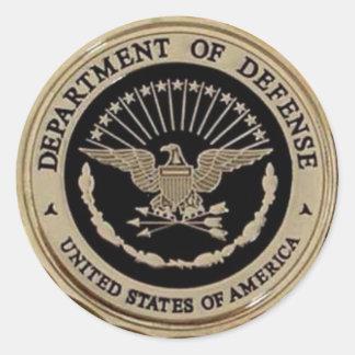 UNITED STATES DEPARTMENT OF DEFENSE CLASSIC ROUND STICKER