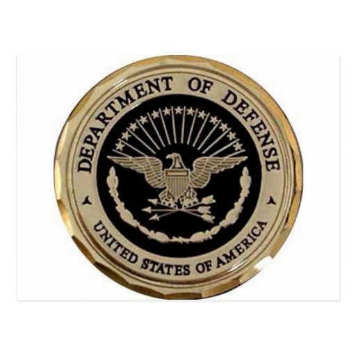 UNITED STATES DEPARTMENT OF DEFENSE POSTCARD
