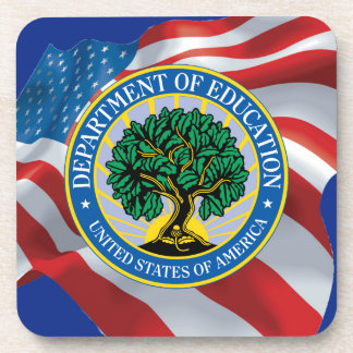 United States Department of Education Drink Coaster
