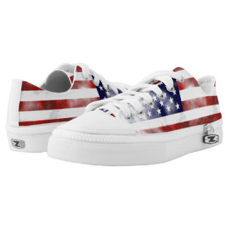 United States discolored flag Printed Shoes