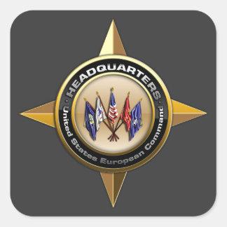 United States European Command Square Sticker