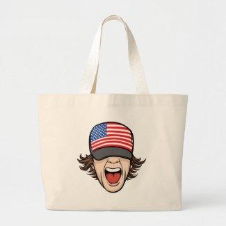United States Fan Canvas Bag