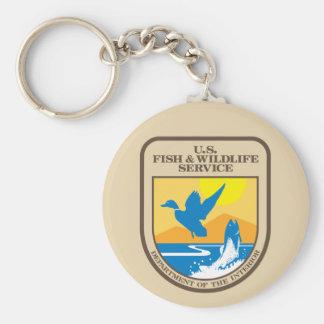 United States Fish and Wildlife Service Basic Round Button Keychain