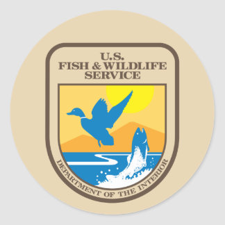 United States Fish and Wildlife Service Classic Round Sticker