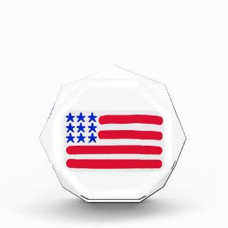 United States flag Acrylic Award