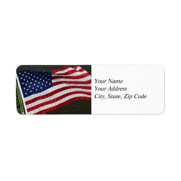 lynnsphotos United States Flag Address Label