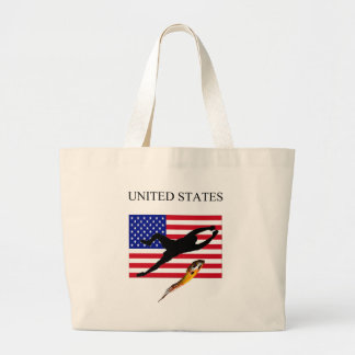 UNITED STATES FLAG AND GOALIE TOTE BAG