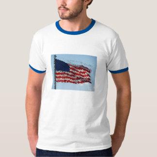 United States Flag Art TShirt
