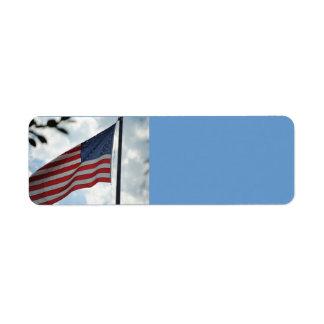 United States Flag Avery Label