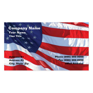 United States Flag Business Cards