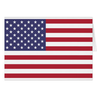 United States Flag Card