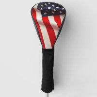 United States flag closeup Golf Head Cover