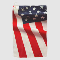 United States flag closeup Golf Towel