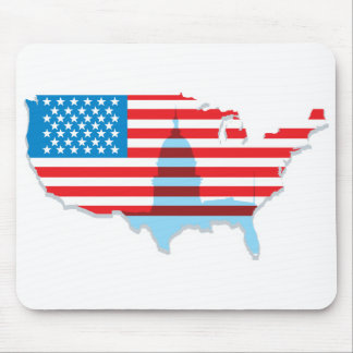 United States Flag Design Mouse Pads