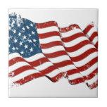 United States Flag Distressed look Tiles