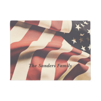 United States flag filter Doormat
