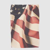 United States flag filter Golf Towel