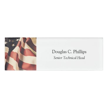 United States flag filter Name Tag